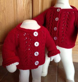 Ravelry Patterns Knit Red Inspiration Cardigan and Hat Pattern