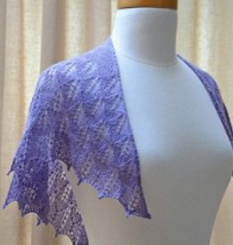 SweetGeorgia Yarns Lilac Leaves Shawl