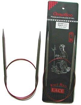 "ChiaoGoo ChiaoGoo 60"" (150cm) Red Lace Fixed Circular Needles"