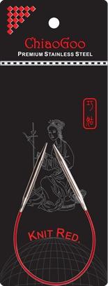 "ChiaoGoo ChiaoGoo 9"" (23cm) Knit Red Fixed Circular Needles"