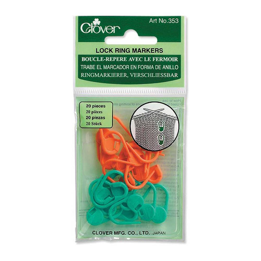 Clover Clover 353 - Locking Stitch Markers - 20 pcs.