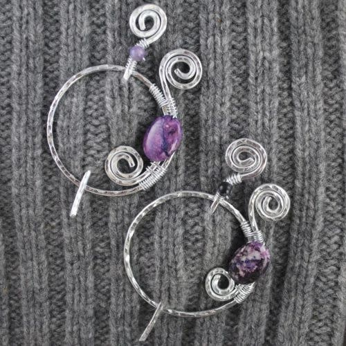 MAB Elements Limited Edition Purple Spirals Pin