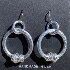 MAB Elements Hammered Hoop Earrings