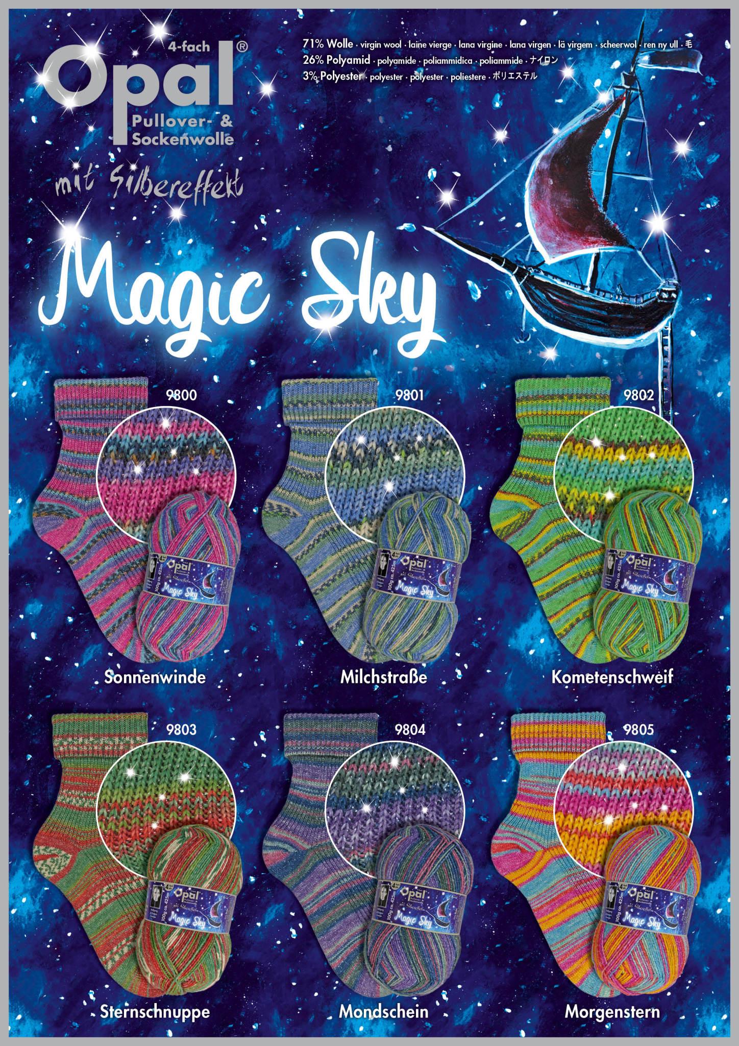 Opal Yarn Opal Yarns Magic Sky Sparkle