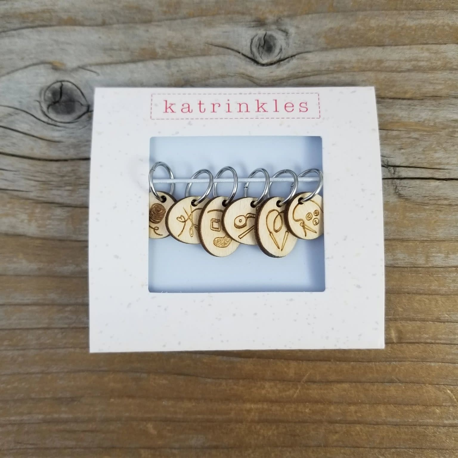 Katrinkles Katrinkles LYS Yarn & Notions Stitch Markers-Limited Edition