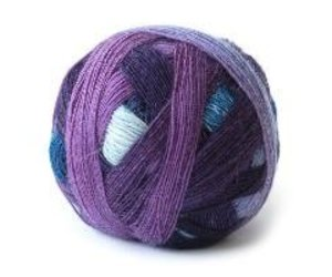 Laceball 100 coloured wool gradient 100/% wool midlands virgin wool gradual colour knitting yarn lace lace yarn poppel