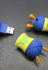 4GB USB Ball of Yarn Flash Drive Key Ring