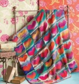 Noro Heart Blanket in Noro Kureyon Kit