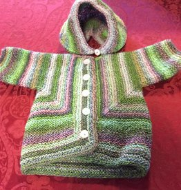 Baby Striped Jacket and Bonnet