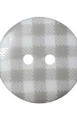 "Cirque CIRQUE Novelty 2-Hole Button - 20mm (3/4"") - Plaid"
