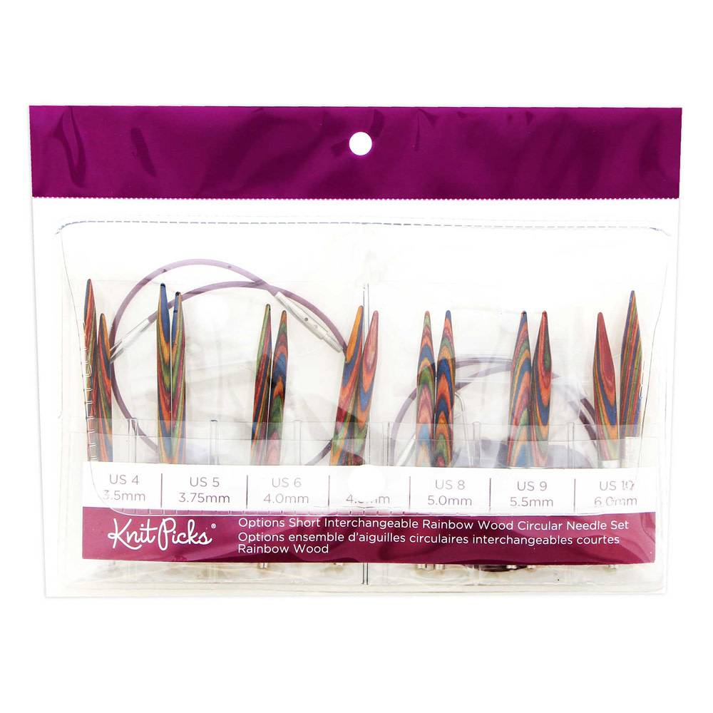 Knit Picks Rainbow Short Interchangeable Needle Set