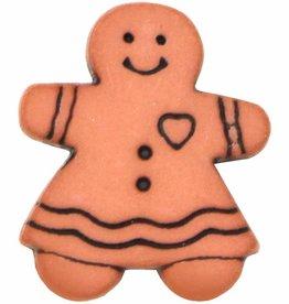 ELAN 952709L - 18mm - Gingerbread Girl Shank Button