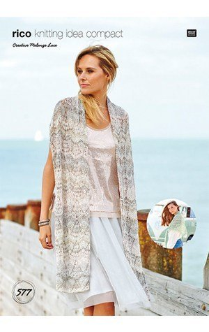 Rico Design Rico Creative Melange Lace Shawl Kit-005