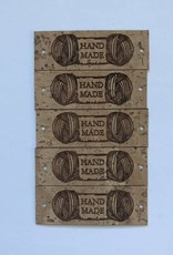"LeatherGoodsCo Cork Leather labels - ""Handmade"""