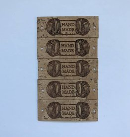 "LeatherGoodsCo Cork Leather labels - ""Handmade"""