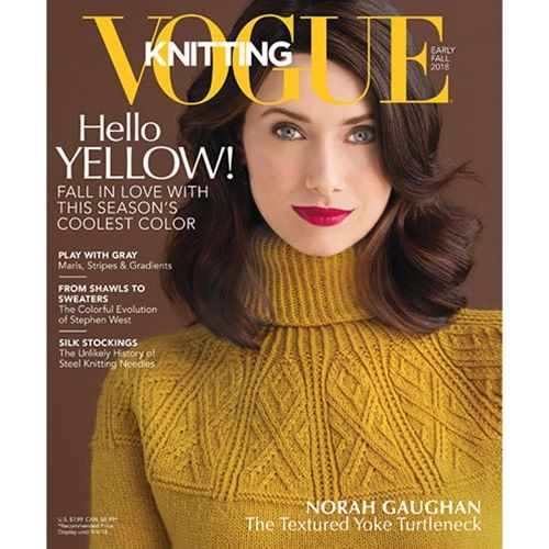 Vogue Knitting Early Fall 2018 Sue2knits And Yarn