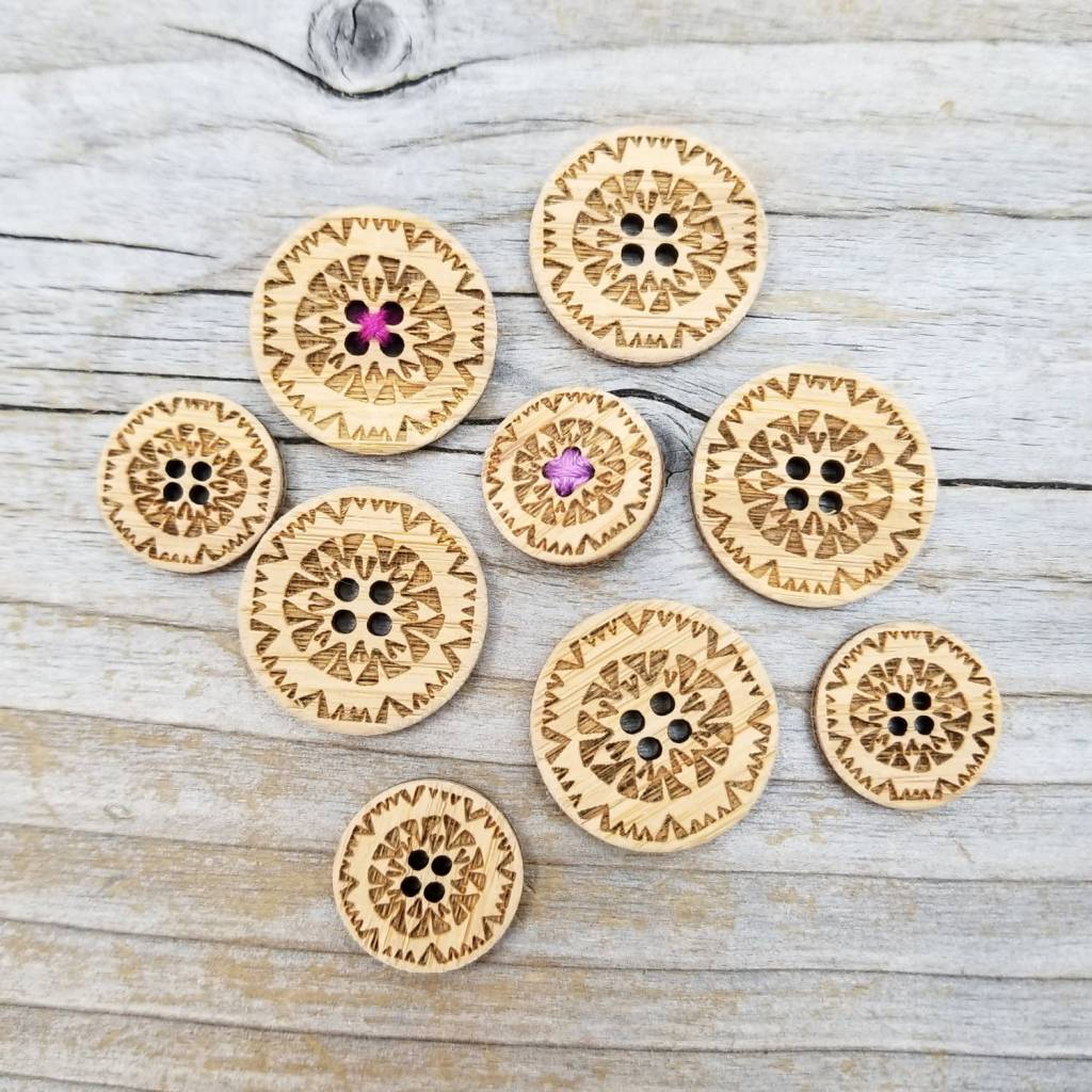 Katrinkles Katrinkles Kaleidoscope Buttons