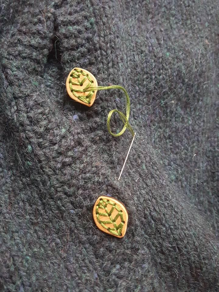 Katrinkles Katrinkles Leaf Buttons