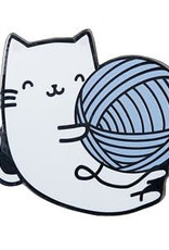 Kitty Yarn Ball Pin