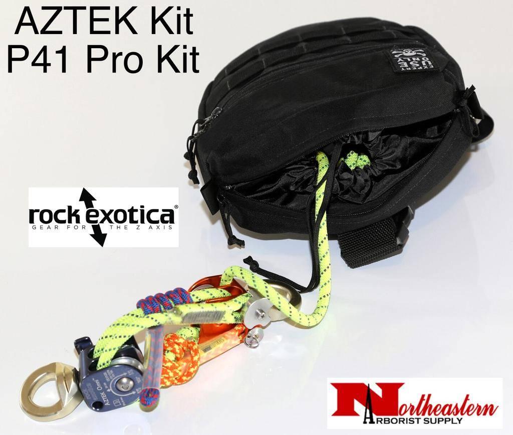 Rock Exotica AZTEK Pro Kit (1-Pulley Set, 1-Rope Set, 1- PRO Bag)