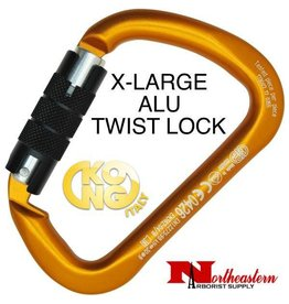 KONG Carabiner, X-LARGE Aluminium Twist Lock Orange/Black