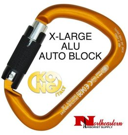 KONG Carabiner, X-LARGE ALU, Auto Block Orange/BLACK