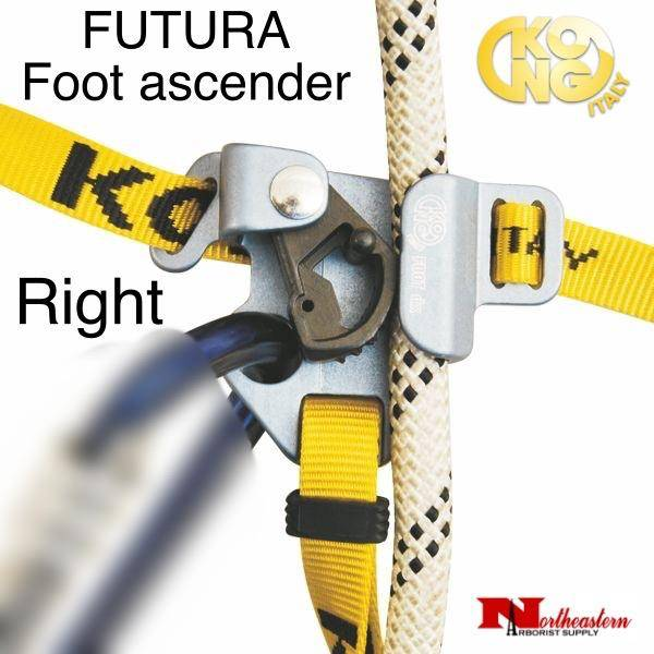 KONG FUTURA Foot ascender - Right, Gray, tree climbing gear