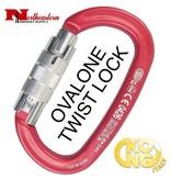 KONG Carabiner, OVALONE Aluminum Twist Lock, Red