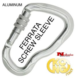 KONG Carabiner, FERRATA Screw Sleeve, Polished
