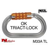 Petzl Carabiner, OK Lightweight oval, TRIACT-LOCK, 25 kN Max.
