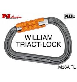 Petzl Carabiner, WILLIAM TRIACT-LOCK, 27kN Max.