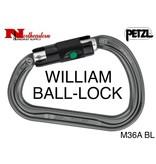 Petzl Carabiner, WILLIAM Ball-Lock 27kN Max.
