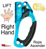 "KONG ""LIFT"" Rope Ascender Right Hand Cyan, tree climbing gear"
