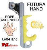 KONG FUTURA HAND, Rope Ascender, Left, Titanium/Yellow, tree climbing gear