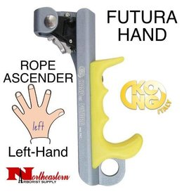 KONG FUTURA HAND, Rope Ascender, Left, Titanium/Yellow