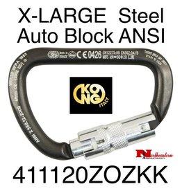 KONG Carabiner, X-LARGE Carbon Steel, Auto Block ANSI