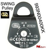 KONG Pulley SWING Compact pulley, Aluminum side plates and nylon wheel