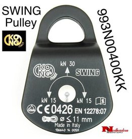 KONG SWING Compact pulley, Aluminum side plates and nylon wheel