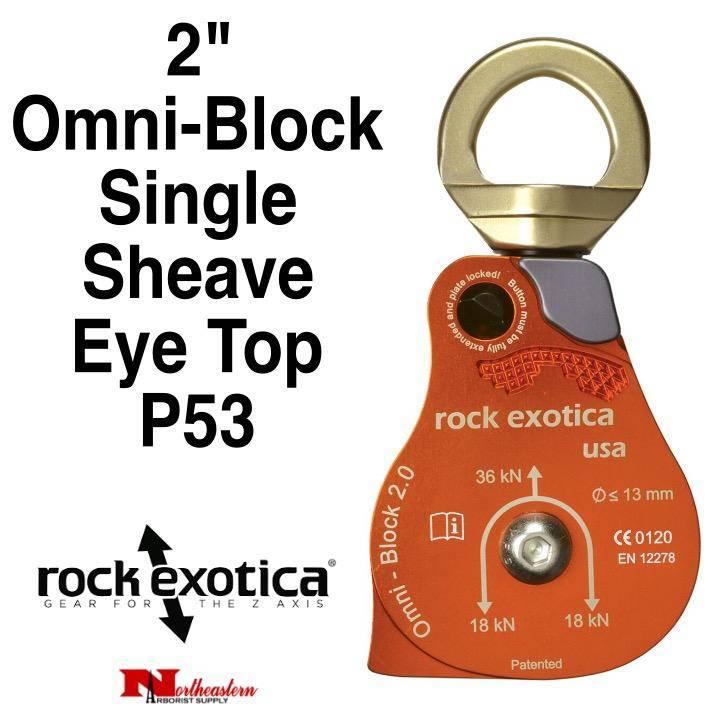 "Rock Exotica Block, Omni 2"" Single Sheave & Eye Swivel Top"