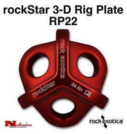 Rock Exotica rockStar 3-D Rig Plate RP22 Breaking Strength: 36 kN