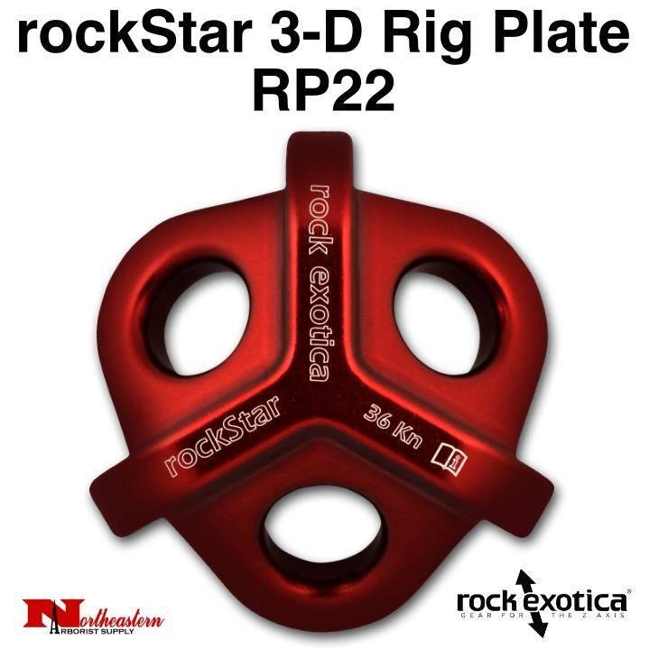 Rock Exotica rockStar 3-D Rig Plate RP22 Breaking Strength: 36 kN