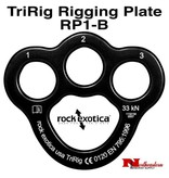 Rock Exotica TriRig Black 3 Hole Rig Plate, MBS: 36 kN