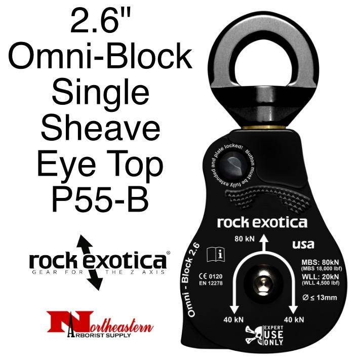 "Rock Exotica Block, Omni 2.6"" Single Sheave & Eye Swivel Top"