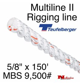 """Teufelberger Multiline II 5/8"""" x 150' - MBS 9,500#"""