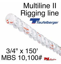 """Teufelberger Multiline II 3/4"""" x 150' - MBS 10,100#"""