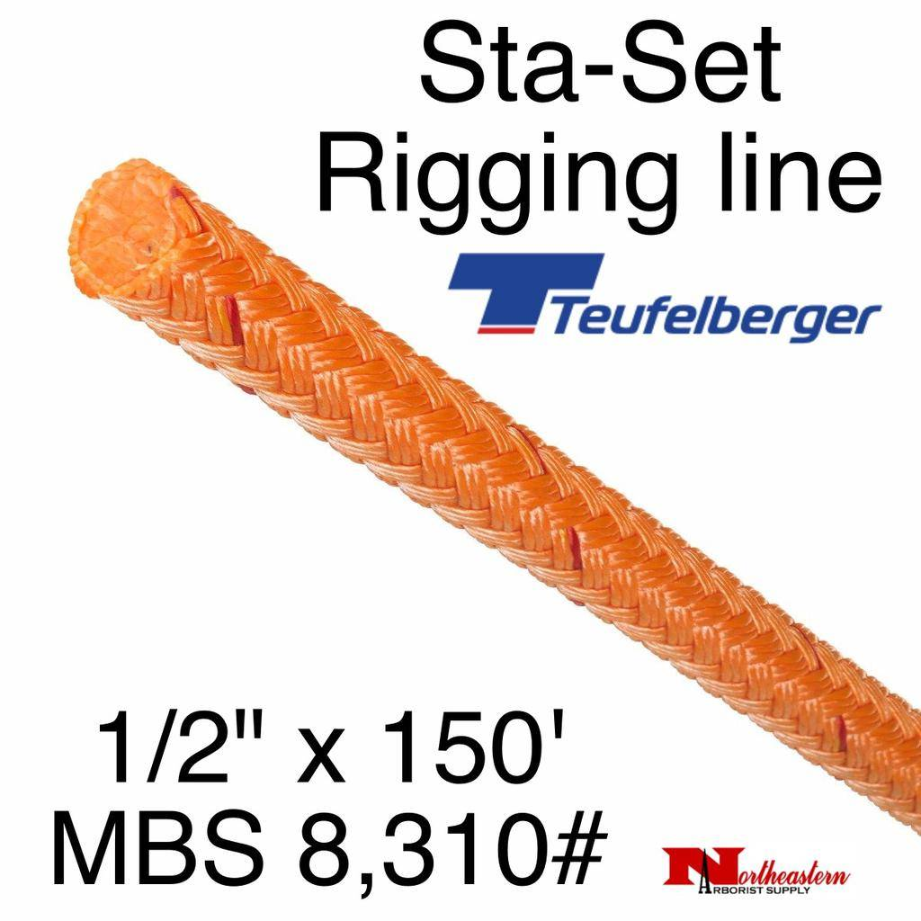 "Teufelberger Sta-Set 1/2"" x 150' 8,310# MBS Coated Red"