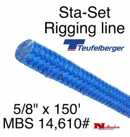 "Teufelberger Sta-Set 5/8"" x 150' 14,610# MBS Coated Blue"