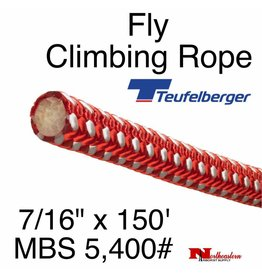 "Teufelberger Fly Climbing Rope, 7/16"" x 150' - 5,400# MBS"