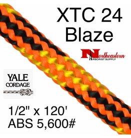 Yale Cordage Blaze, 11mm Climbing Line, 150' Hank 5,600# ABS