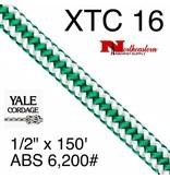 """Yale Cordage XTC 16-Strand Spearmint, 1/2"""" x 150' 6,200# ABS"""
